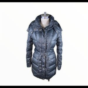 Vince Camuto Hooded Belted Down Puffer Coat